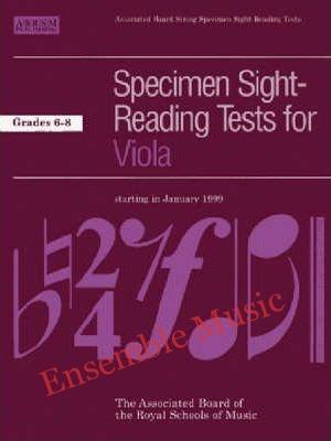 ABRSM Viola Specimen Sight Reading Tests Grades 6 8