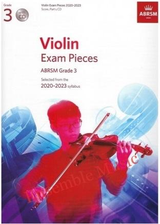 ABRSM Violin Exam Pieces Grade 3 2020 with CD