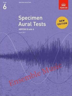 Abrsm specimen aural tests G book only