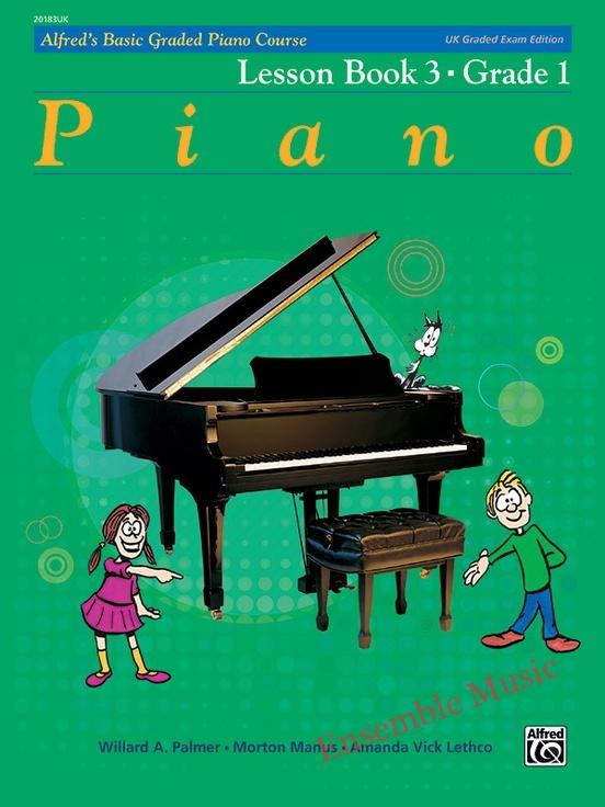 Alfred UK graded exam piano lesson 3 Grade one