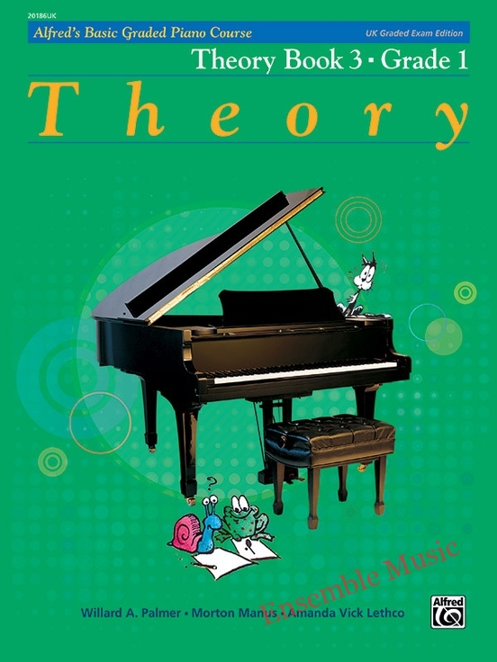 Alfred UK graded exam piano theory 3 Grade one