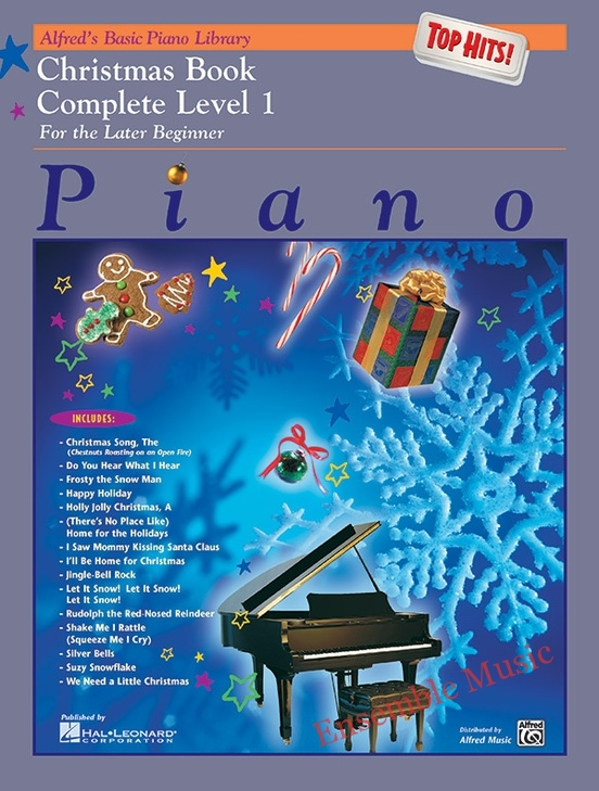 Alfreds Basic Piano Library Top Hits Christmas Book Complete 1
