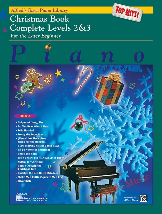 Alfreds Basic Piano Library Top Hits Christmas Book Complete 2 3