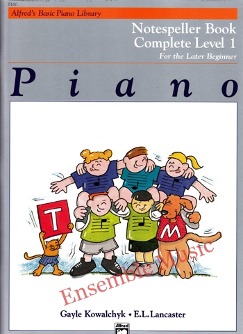 Alfreds Basic Piano Library Notespeller complete 1