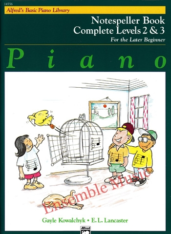 Alfreds Basic Piano Library Notespeller complete 2 and 3