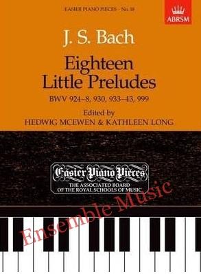 Bach Eighteen Little Preludes BWV ABRSM