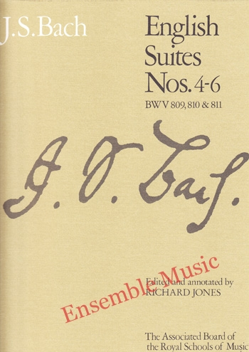 Bach English Suites Nos 4 6 BWV 809 810 811