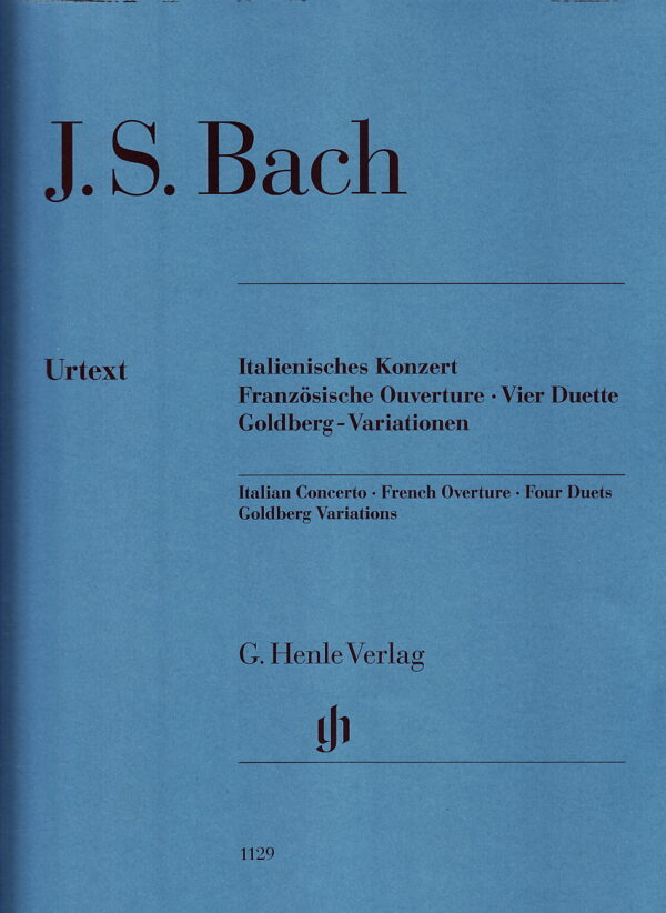 Bach Italian Concerto French Overture Four Duets Goldberg Variations