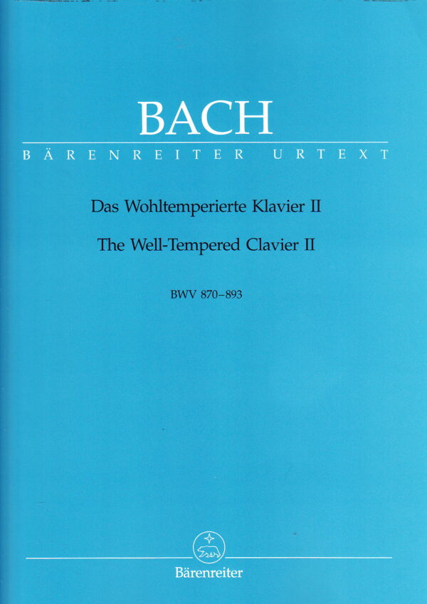 Bach The Well Tempered Clavier II BWV 870 893