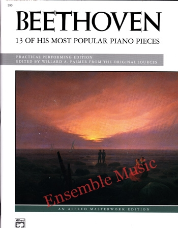Beethoven 13 Most Popular Piano Pieces