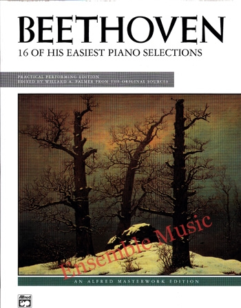 Beethoven 16 Of His Easiest Piano Selections