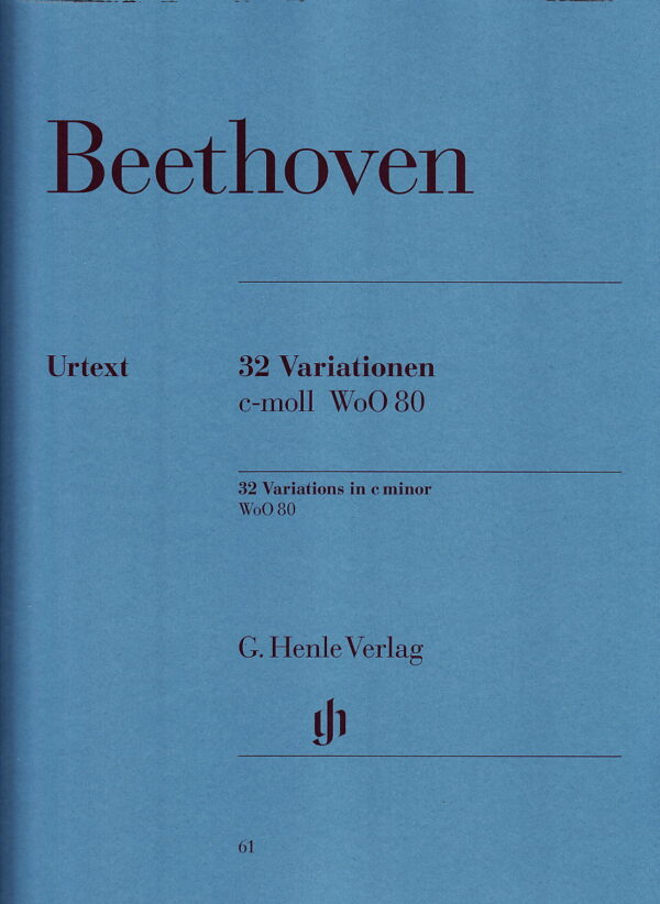 Beethoven 32 Variations in C Minor Wo0 80