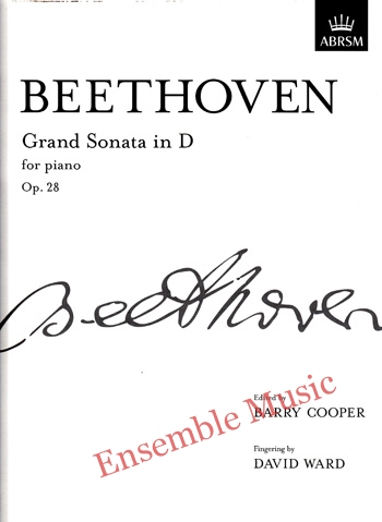 Beethoven Grand Sonata in D for pianoOp 28
