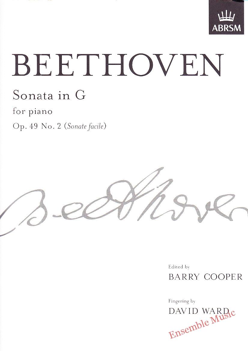 Beethoven Sonata In G Op 49 No 2