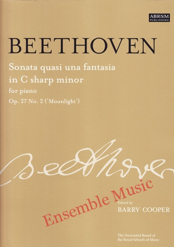 Beethoven Sonata Quasi una Fantasia in C sharp minor for Piano Op 27No 2 Moonlight