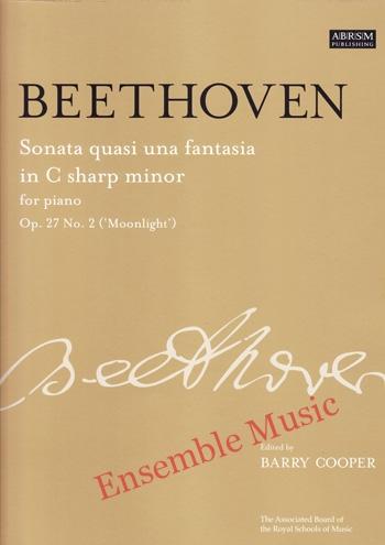 Beethoven Sonata Quasi una Fantasia in C sharp minor for Piano Op 27No 2 Moonlight
