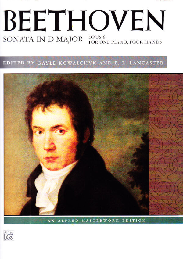 Beethoven Sonata in D Major Opus 6 For One Piano Four Hands