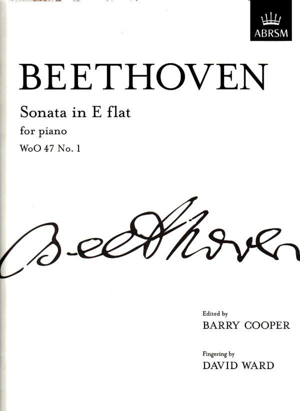 Beethoven Sonata in E flat for Piano WoO 47 No 1