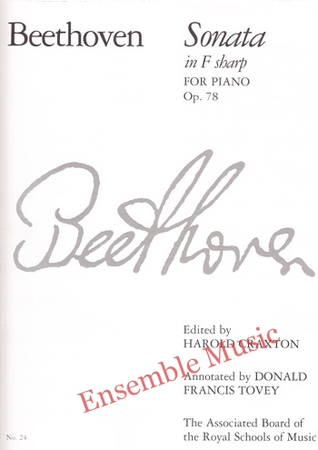 Beethoven Sonata in F sharp for Piano Op 78
