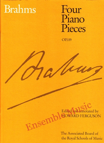 Brahms Four Piano Pieces Op 119