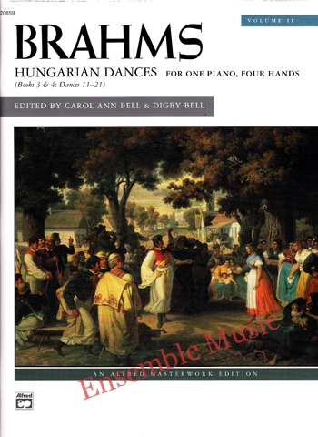 Brahms Hungarian Dances Volume 2 For One Piano Four Hands