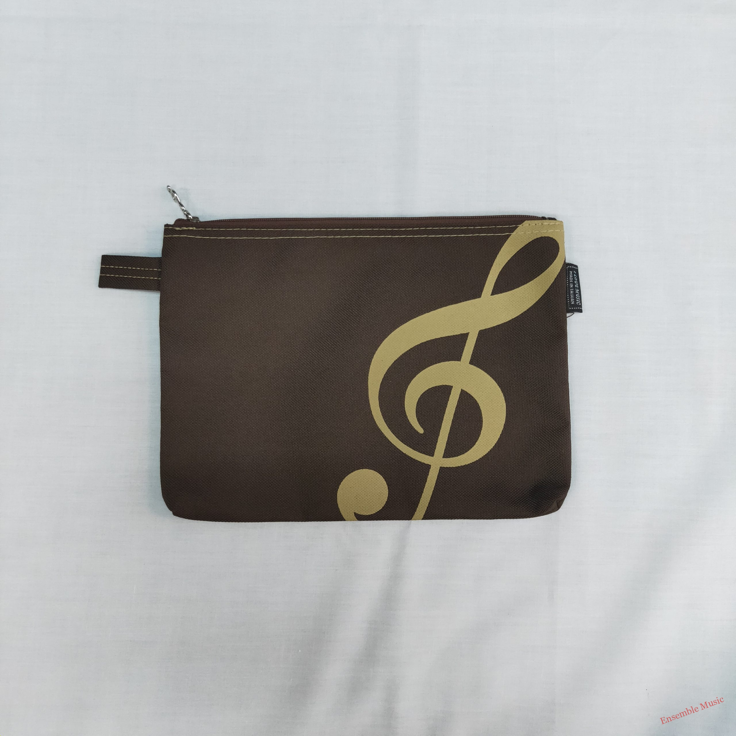 Brown Pouch Treble Clef scaled 1