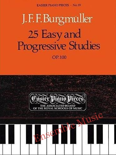 Burgmuller 25 easy and prgressive studies op 100
