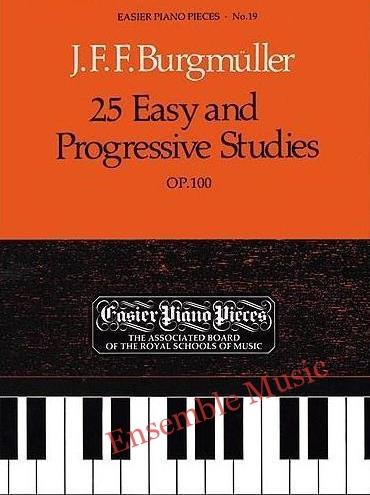 Burgmuller 25 easy and prgressive studies op 100