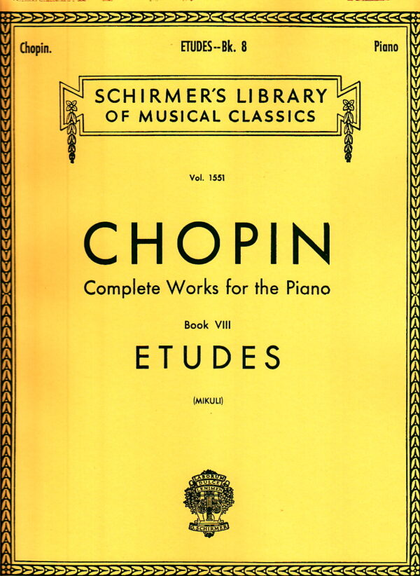 Chopin Etudes Works For The Piano Book VIII