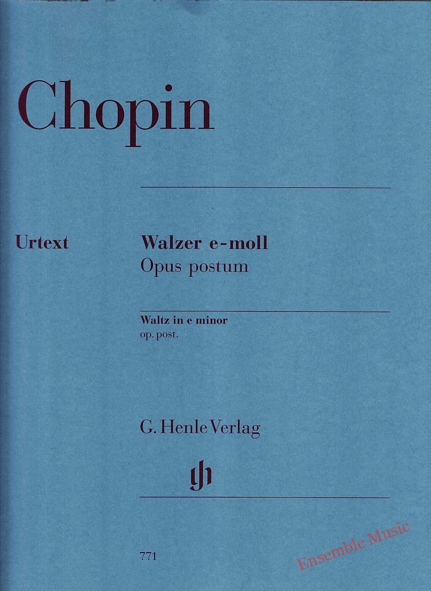 Chopin Waltz in E Minor Op. Post Urtext
