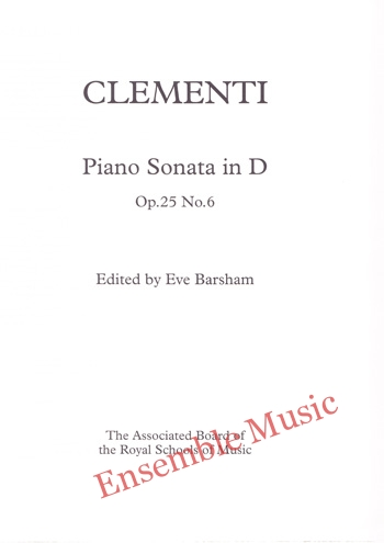 Clementi Sonata in D Op 25 No 6