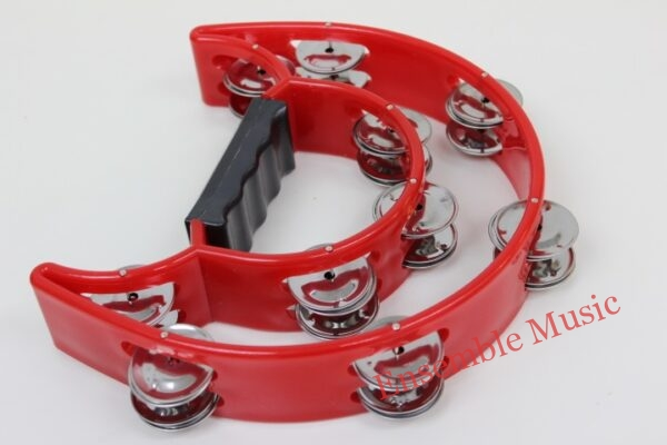 Cymbal Double Half Moon Tambourine Red