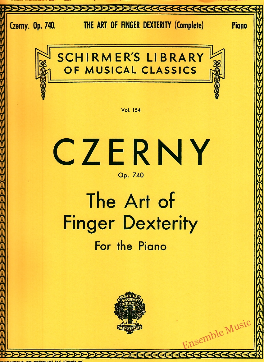 Czerny Op. 740 The Art of Finger Dexterity For the Piano