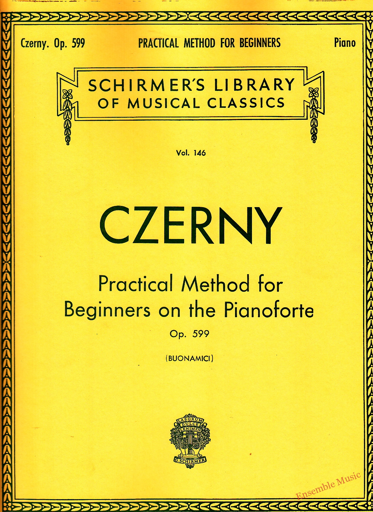 Czerny Practical Method for Beginners on the Pianoforte