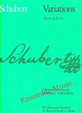 Franz Schubert Variations D156 D576