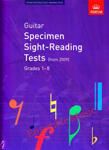 Guitar Specimen Sight reading tests