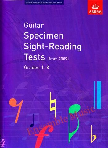 Guitar Specimen Sight reading tests