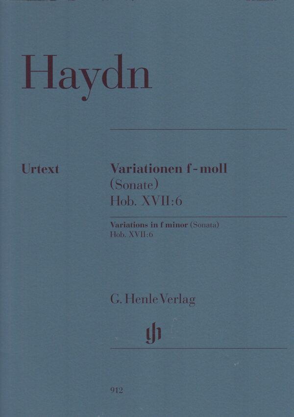 Haydn Variations In F Minor Sonata Hob. XVII 6