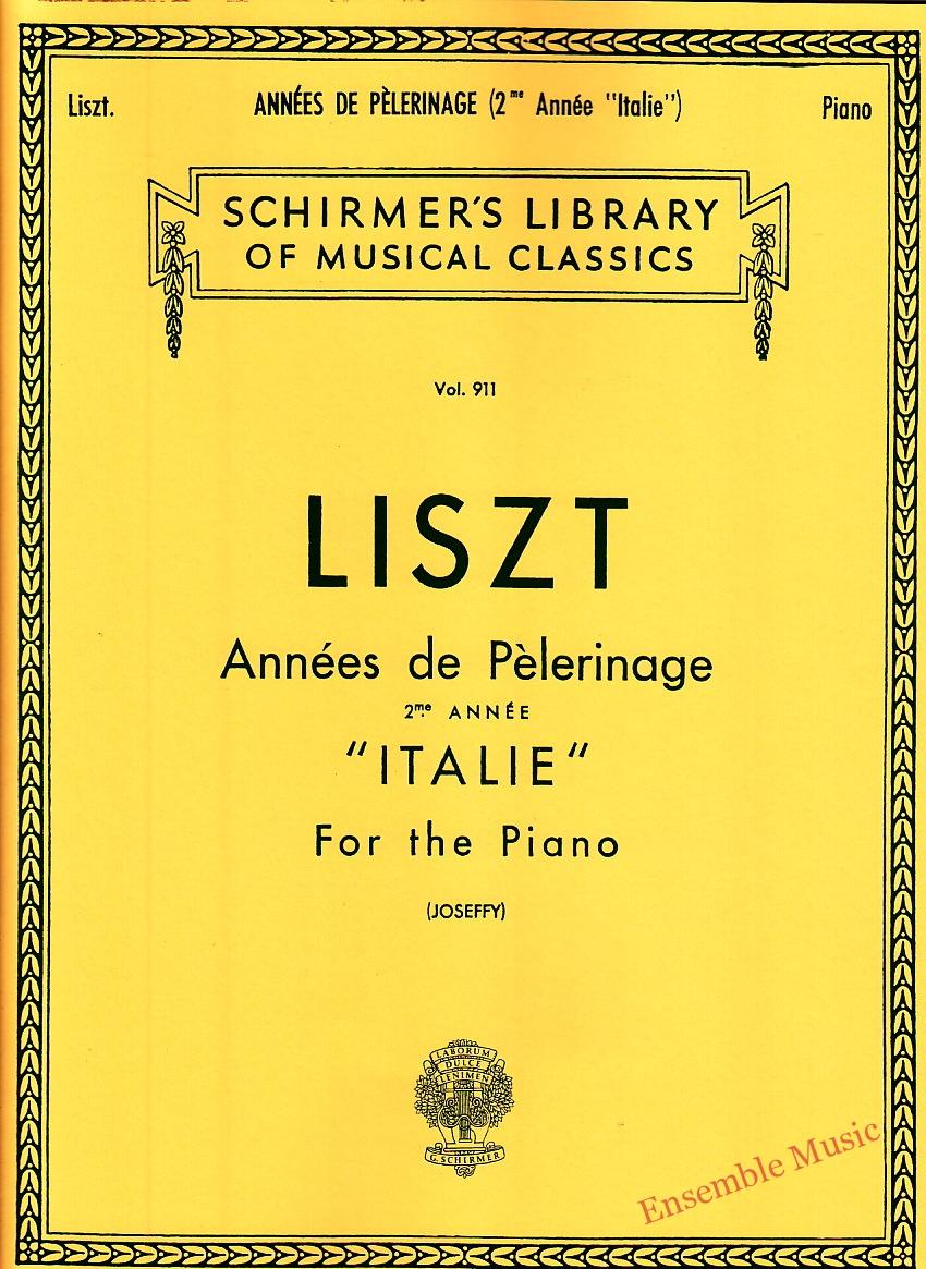 Liszt Annees de Pelerinage ITALIE