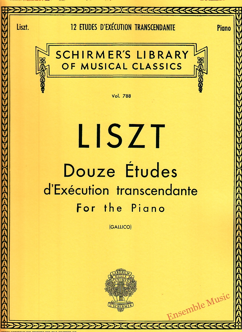Liszt Douze Etudes dExecution transcendante For the Piano