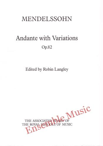 Mendelssohn Andante with Variations Op. 82
