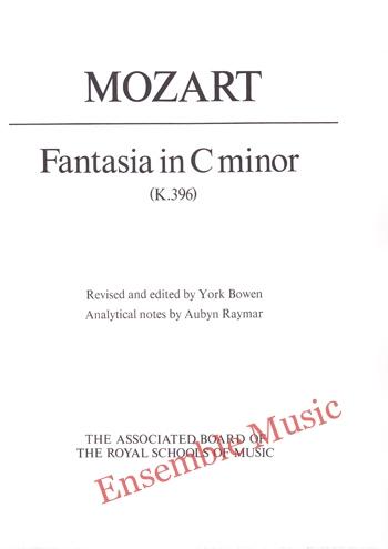 Mozart Fantasia in C minor K 396