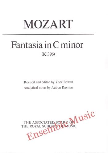 Mozart Fantasia in C minor K 396