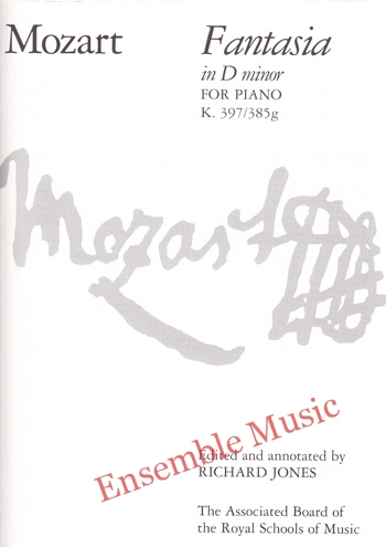 Mozart Fantasia in D minor for Piano K 397 385g