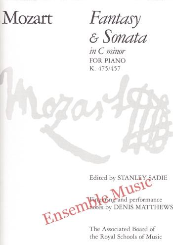 Mozart Fantasy Sonata in C minor for Piano K 475 457