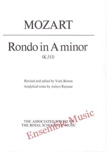 Mozart Rondo in A minor K 511