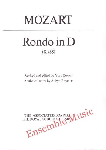Mozart Rondo in D K 485
