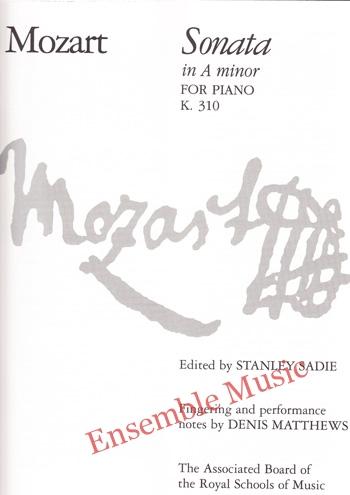 Mozart Sonata in A minor for Piano K 310 1