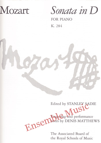 Mozart Sonata in D for Piano K 284