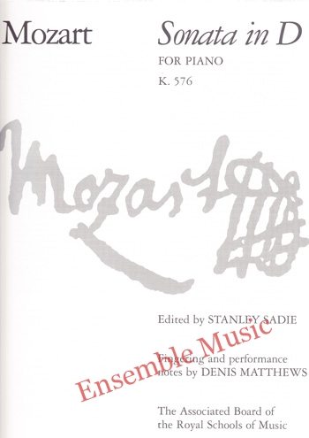 Mozart Sonata in D for Piano K 576